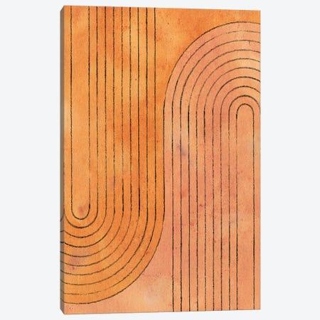 Burnt Orange Arches Canvas Print #WWY12} by Whales Way Canvas Art Print
