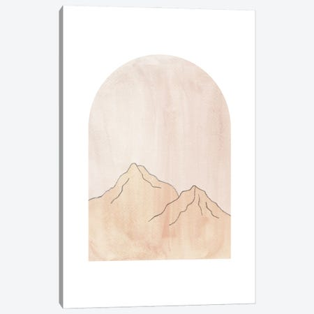 Pastel mountains in arch Canvas Print #WWY132} by Whales Way Canvas Print
