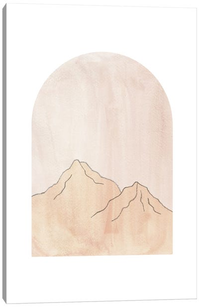 Pastel mountains in arch Canvas Art Print