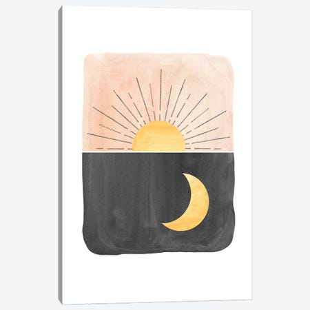 Day and night, sun and moon Canvas Print #WWY136} by Whales Way Canvas Art