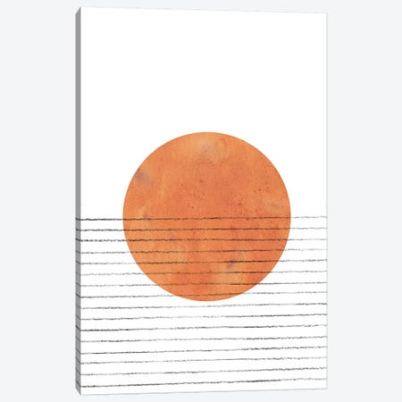 Burnt Orange Sun Canvas Print #WWY13} by Whales Way Canvas Print