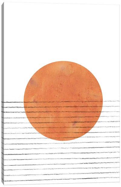 Burnt Orange Sun Canvas Art Print