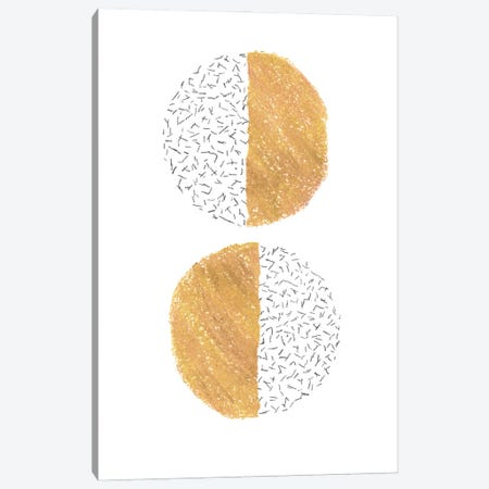 Mustard half circles Canvas Print #WWY147} by Whales Way Art Print