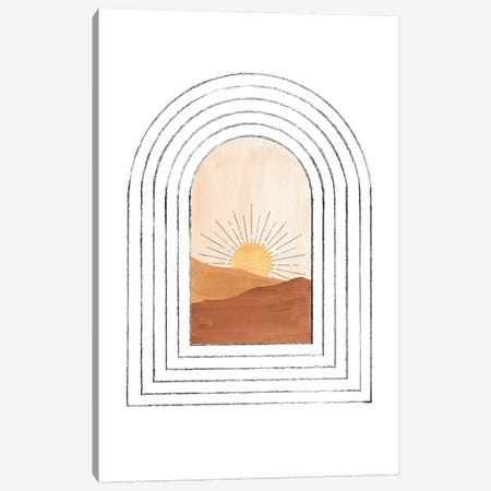 Mid Century Arch And Landscape Canvas Print #WWY149} by Whales Way Canvas Artwork