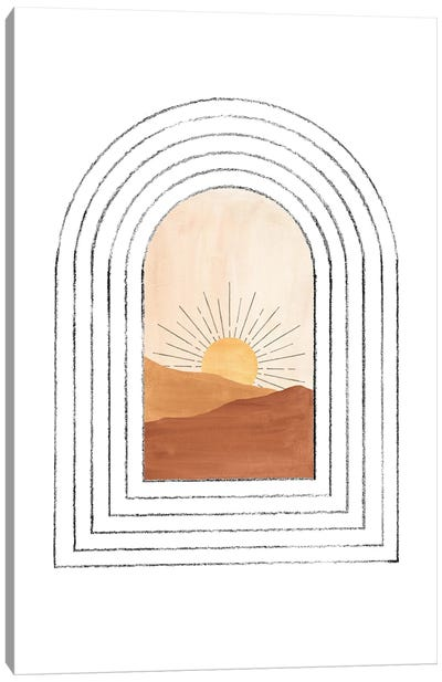Mid Century Arch And Landscape Canvas Art Print