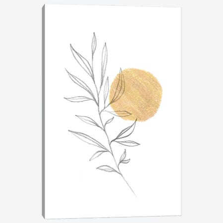 Boho Plant And Sun Canvas Print #WWY152} by Whales Way Canvas Print