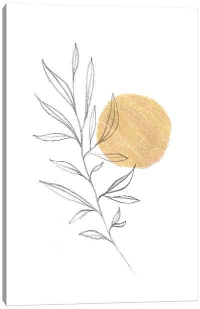 Boho Plant And Sun Canvas Art Print