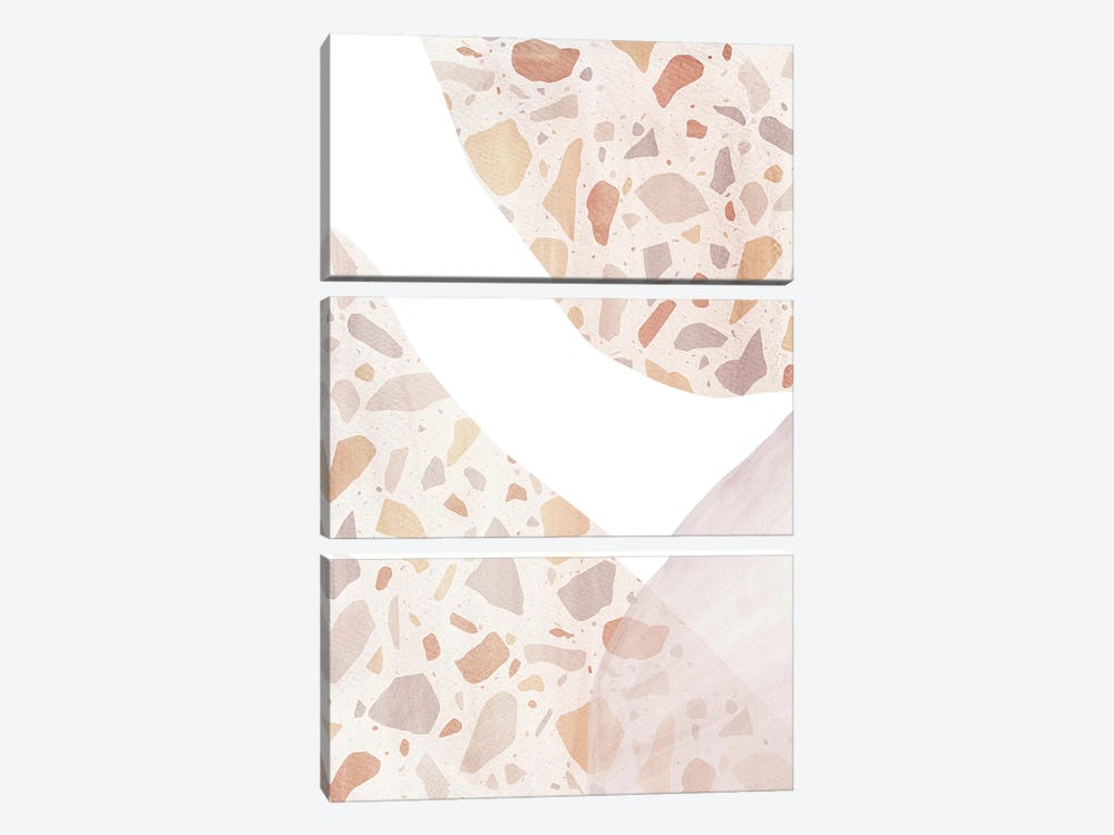 Abstract Terrazzo Shapes by Whales Way 3-piece Art Print