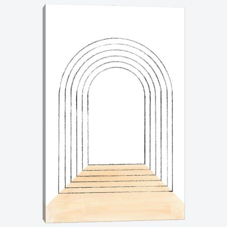 Mid Century Arch Canvas Print #WWY155} by Whales Way Canvas Wall Art