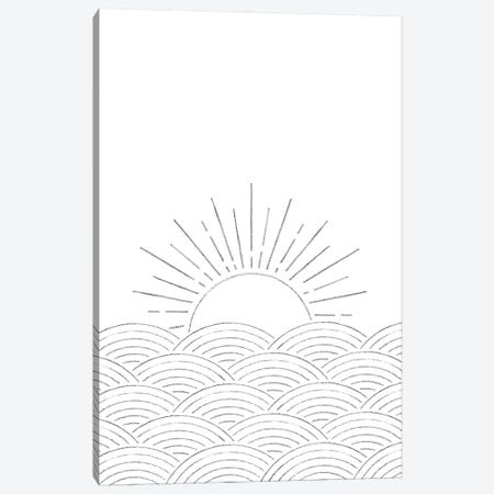 Minimal Sunset On The Sea Canvas Print #WWY156} by Whales Way Canvas Wall Art