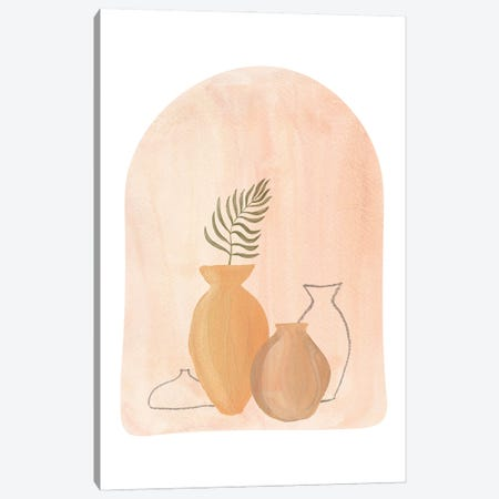 Boho Vases Canvas Print #WWY157} by Whales Way Canvas Wall Art