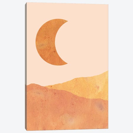 Crescent And Dunes Canvas Print #WWY15} by Whales Way Canvas Art
