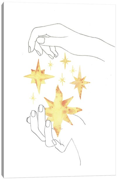 Stars In The Hands Canvas Art Print