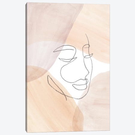 Line Art Face Canvas Print #WWY167} by Whales Way Art Print