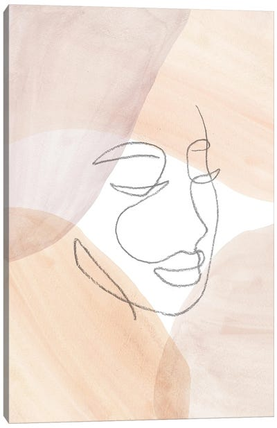 Line Art Face Canvas Art Print