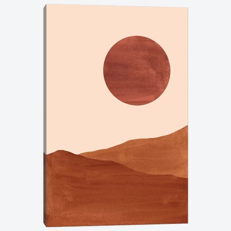 Dark Terracotta Dunes Canvas Print #WWY16} by Whales Way Canvas Wall Art