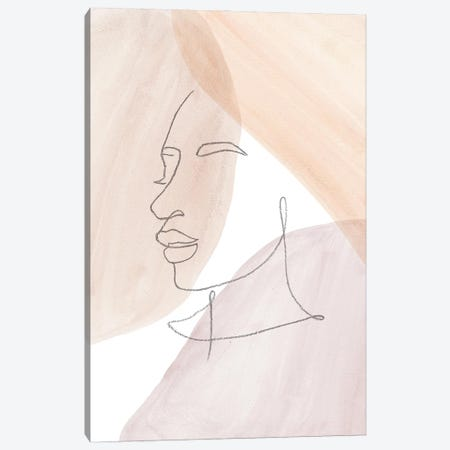 Line Art Face II Canvas Print #WWY170} by Whales Way Art Print