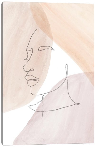 Line Art Face II Canvas Art Print