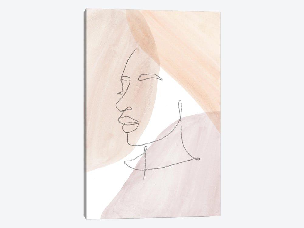 Line Art Face II by Whales Way 1-piece Art Print