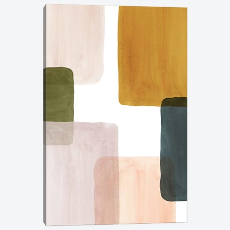 Color Blocks Art I Canvas Print #WWY178} by Whales Way Canvas Art Print