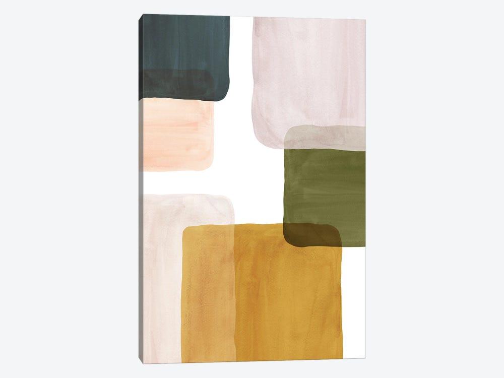 Color Blocks Art II by Whales Way 1-piece Canvas Artwork