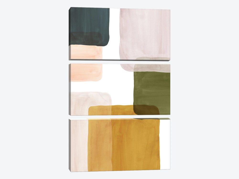 Color Blocks Art II by Whales Way 3-piece Canvas Artwork