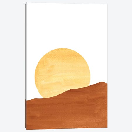 Dunes And Sun Canvas Print #WWY17} by Whales Way Canvas Art