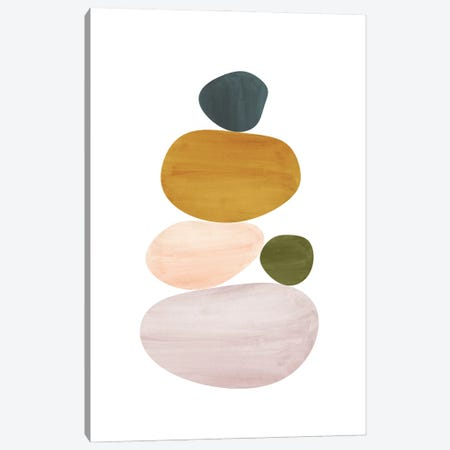 Abstract Stones Canvas Print #WWY180} by Whales Way Canvas Wall Art