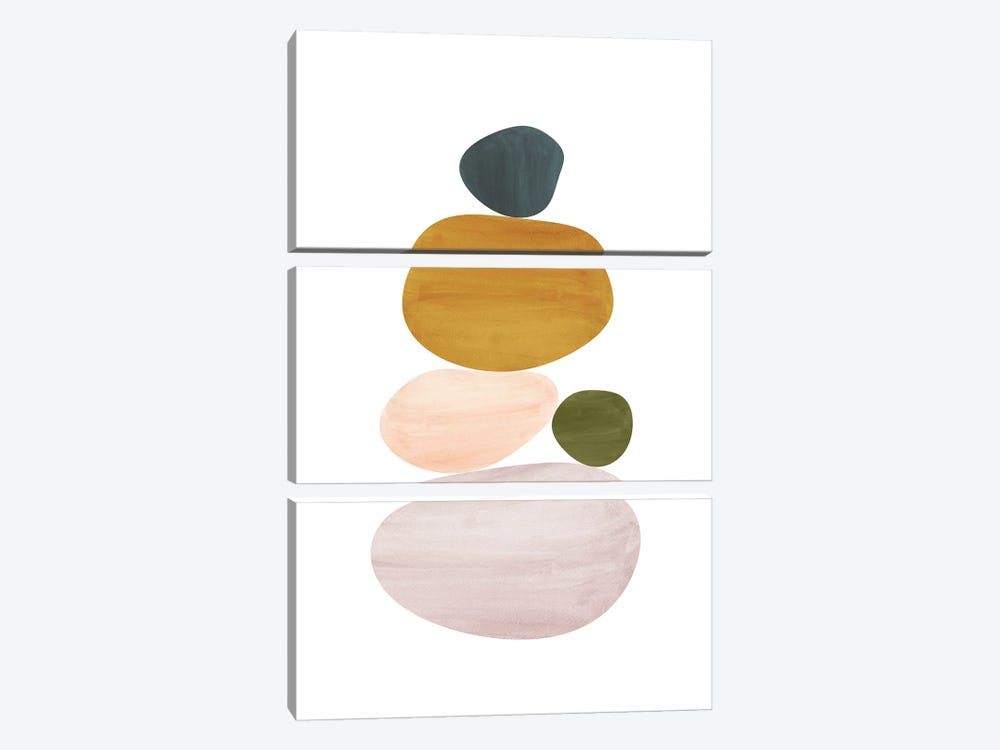 Abstract Stones by Whales Way 3-piece Canvas Wall Art
