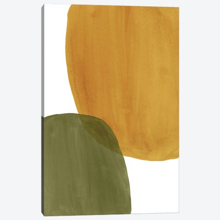 Rust Ochre And Green Art Canvas Print #WWY181} by Whales Way Canvas Art
