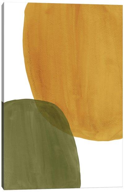 Rust Ochre And Green Art Canvas Art Print