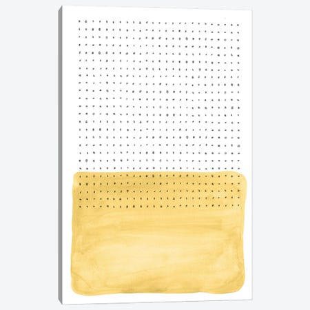 Abstract Mustard Watercolor And Points Canvas Print #WWY182} by Whales Way Canvas Art
