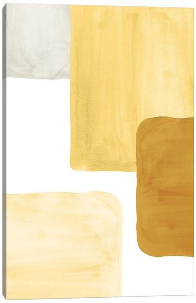Mustard Color Blocks Canvas Art Print