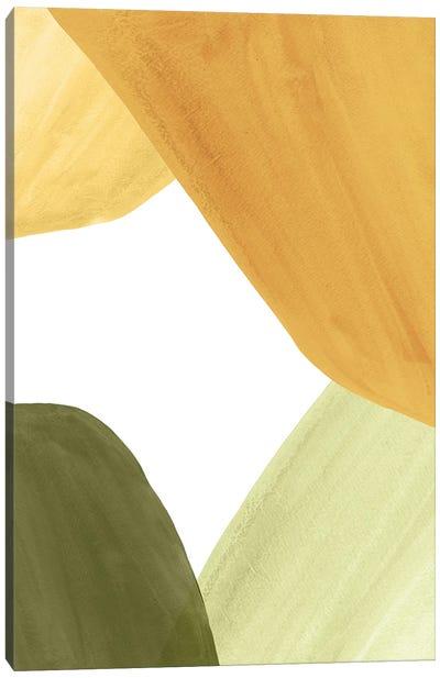 Abstract Organic Shapes, Autumn Colors I Canvas Art Print
