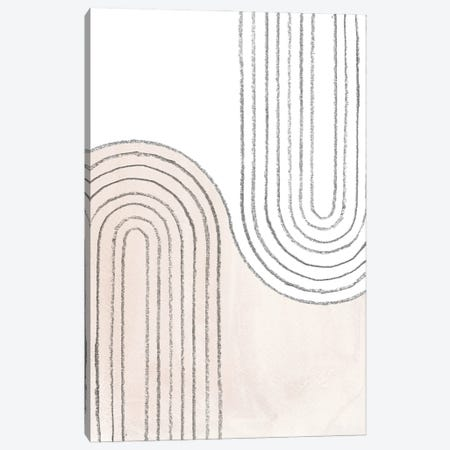 Curved Lines Canvas Print #WWY193} by Whales Way Canvas Print