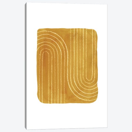 Rust Mustard Art Canvas Print #WWY194} by Whales Way Canvas Art