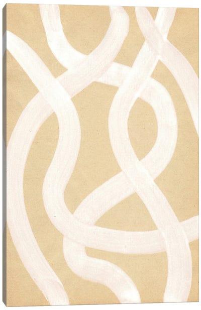 Neutral Stripes Canvas Art Print