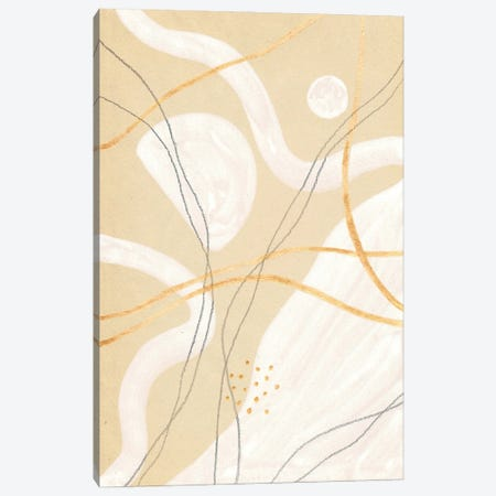 Abstract Beige And White Art Canvas Print #WWY199} by Whales Way Canvas Print