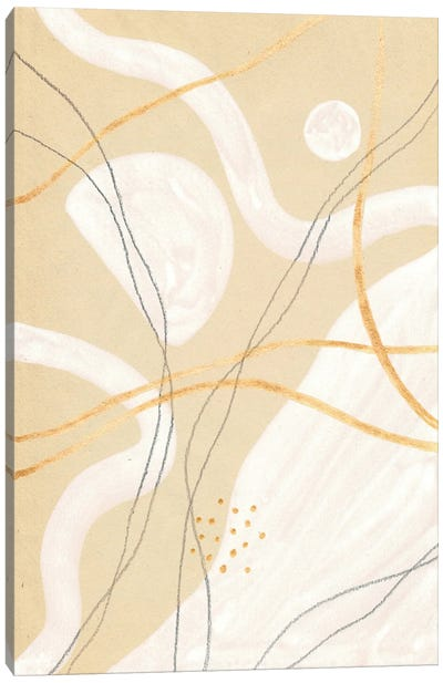 Abstract Beige And White Art Canvas Art Print