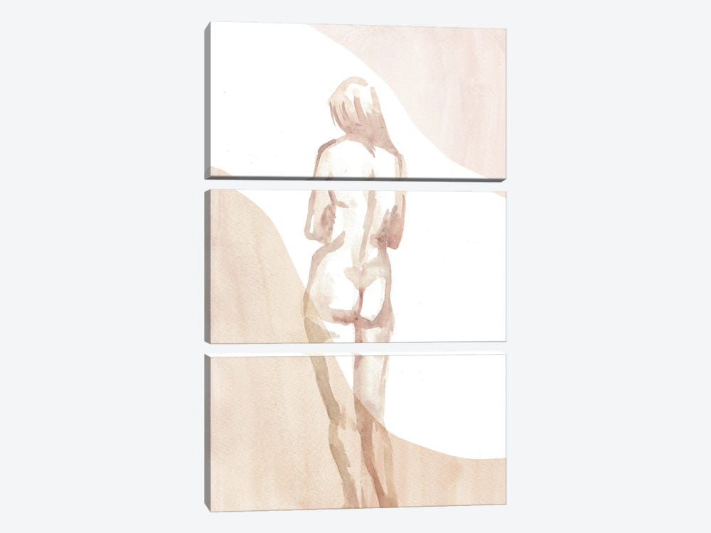 Nude Woman I by Whales Way 3-piece Canvas Artwork