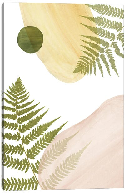 Abstract Shapes And Fern Canvas Art Print