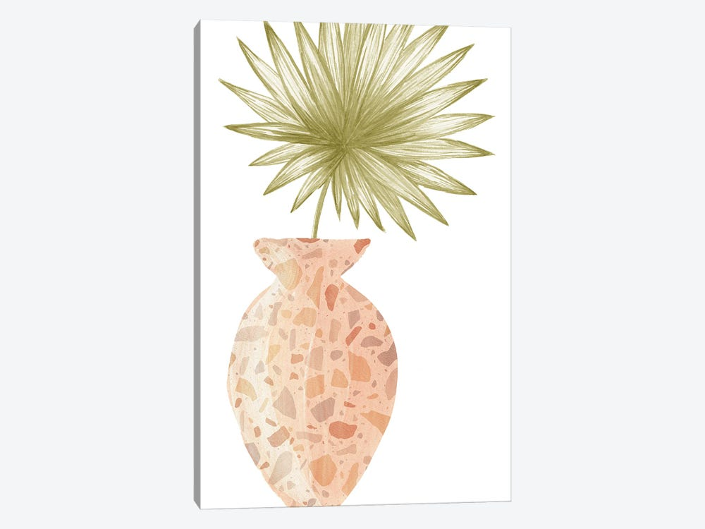 Terrazzo Vase And Plant by Whales Way 1-piece Canvas Artwork