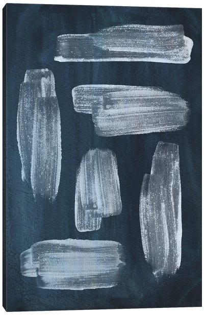 Navy blue brush strokes Canvas Art Print