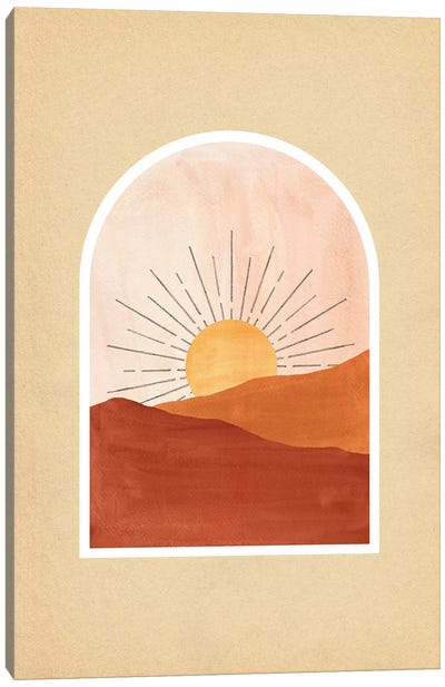 Terracotta Boho Sunrise Canvas Art Print