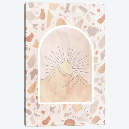 Terrazzo Boho Sunrise Canvas Print #WWY227} by Whales Way Canvas Art
