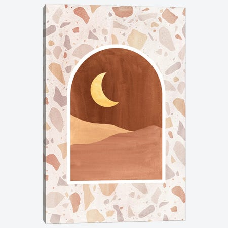 Terrazzo Desert Night Canvas Print #WWY229} by Whales Way Canvas Print