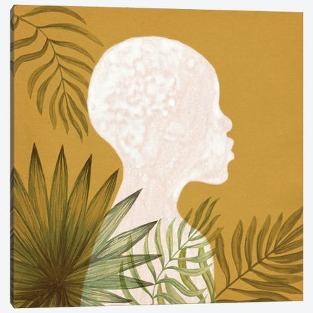 Tropical African Girl Canvas Print #WWY230} by Whales Way Canvas Wall Art
