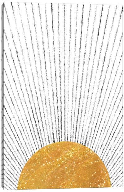 Abstract Mustard Sun Canvas Art Print
