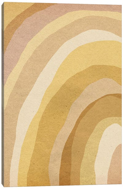 Earthy Tone Abstract Rainbow Canvas Art Print