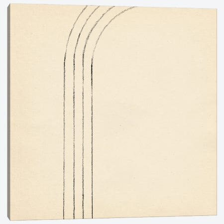 Minimalist Neutral Line Art II Canvas Print #WWY237} by Whales Way Art Print